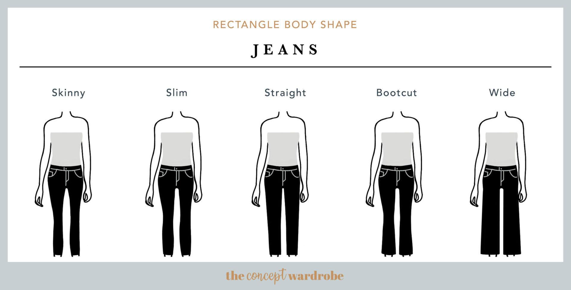 Rectangle Body Shape Jeans - the concept wardrobe