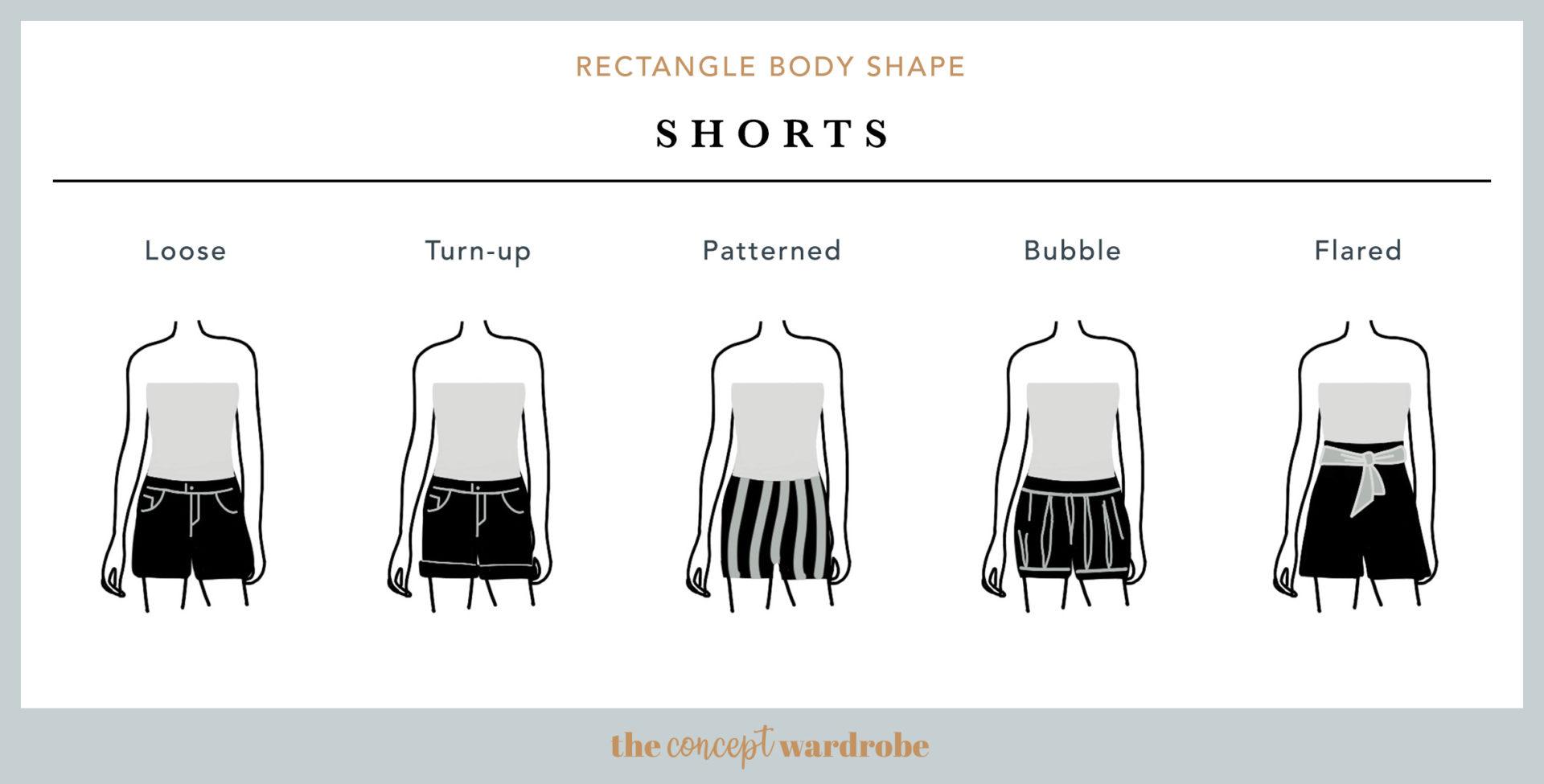 Rectangle Body Shape Shorts - the concept wardrobe