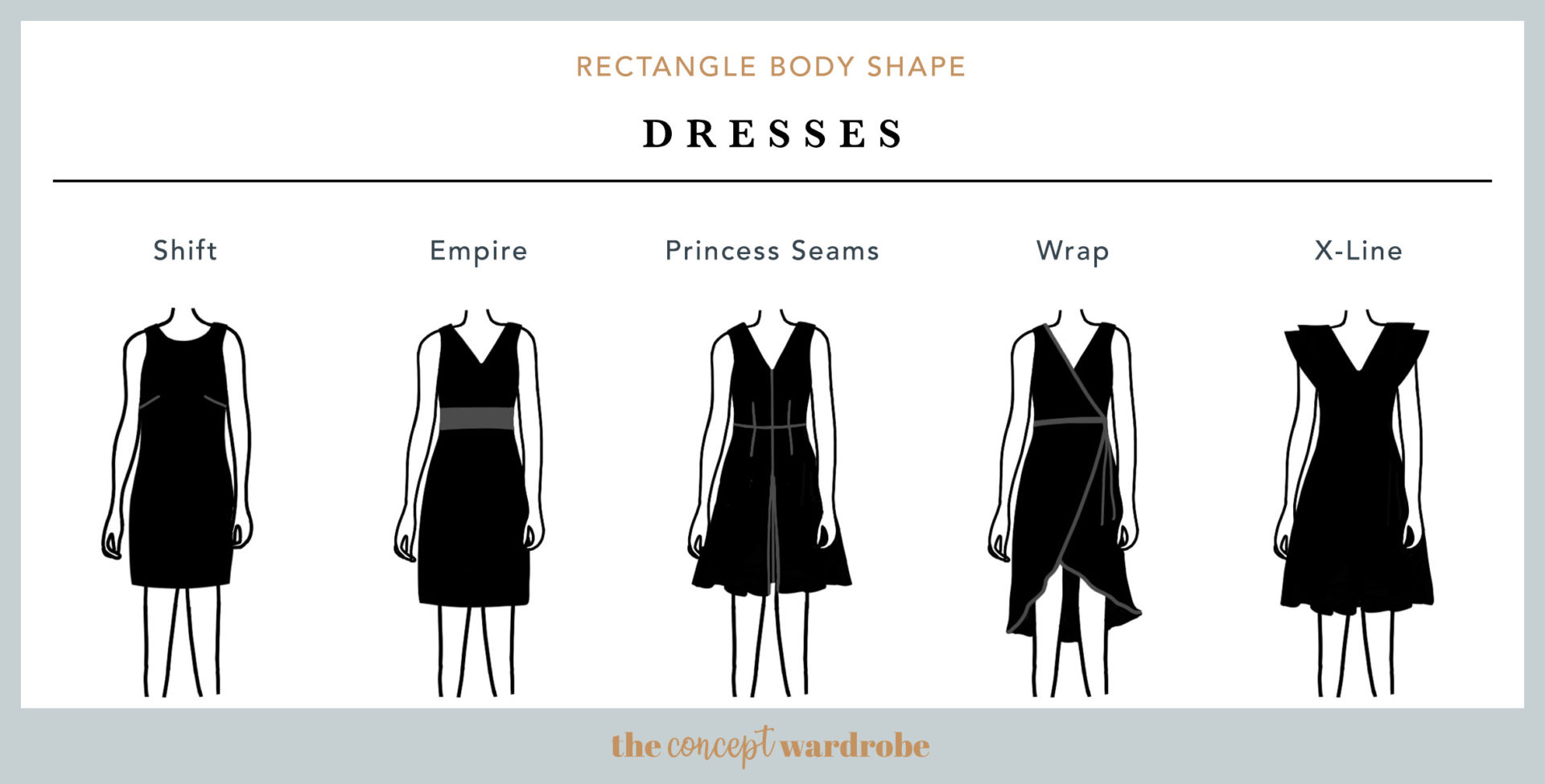 How To Dress The Rectangle Body Shape  the concept wardrobe