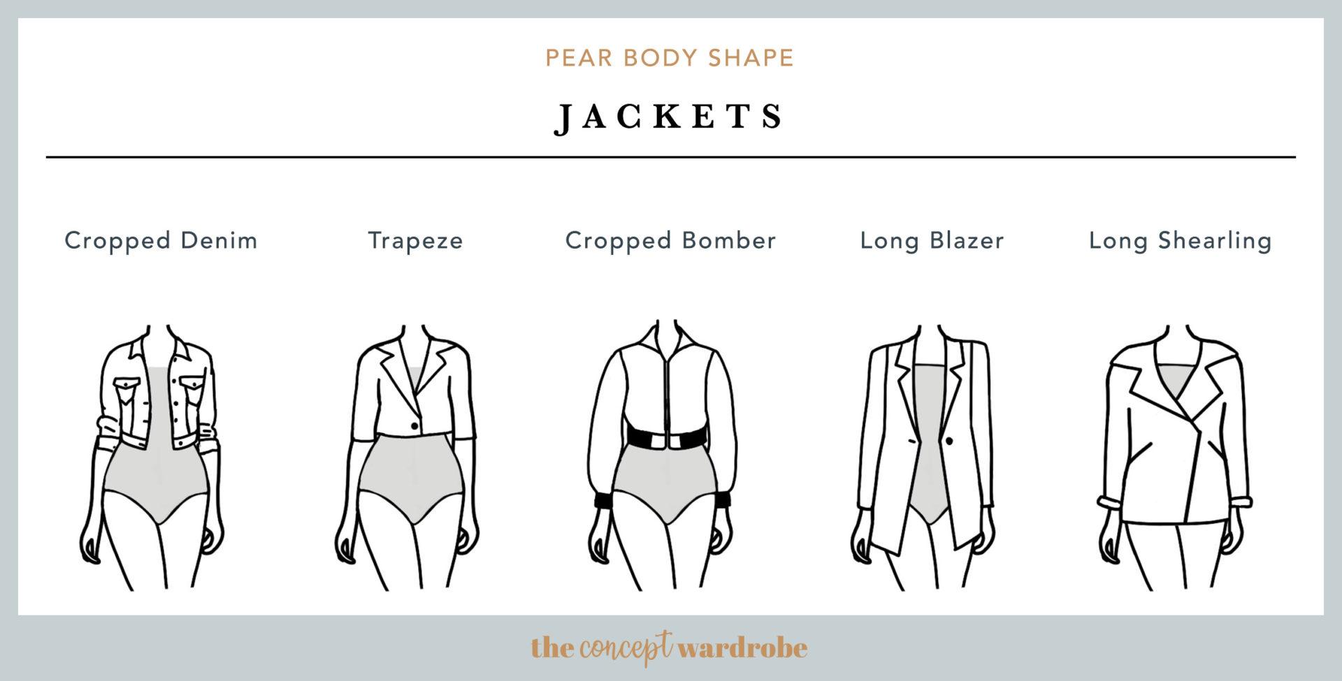 Pear Body Shape Jackets - the concept wardrobe