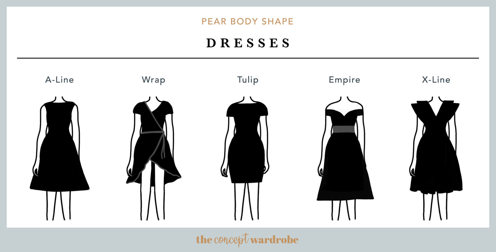 Pear Body Shape Dresses - the concept wardrobe