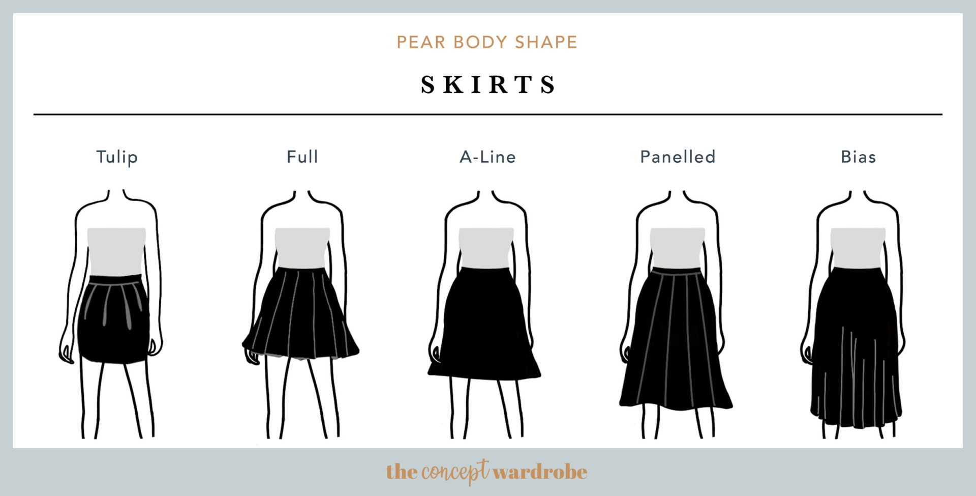 How To Dress The Pear Body Shape  the concept wardrobe