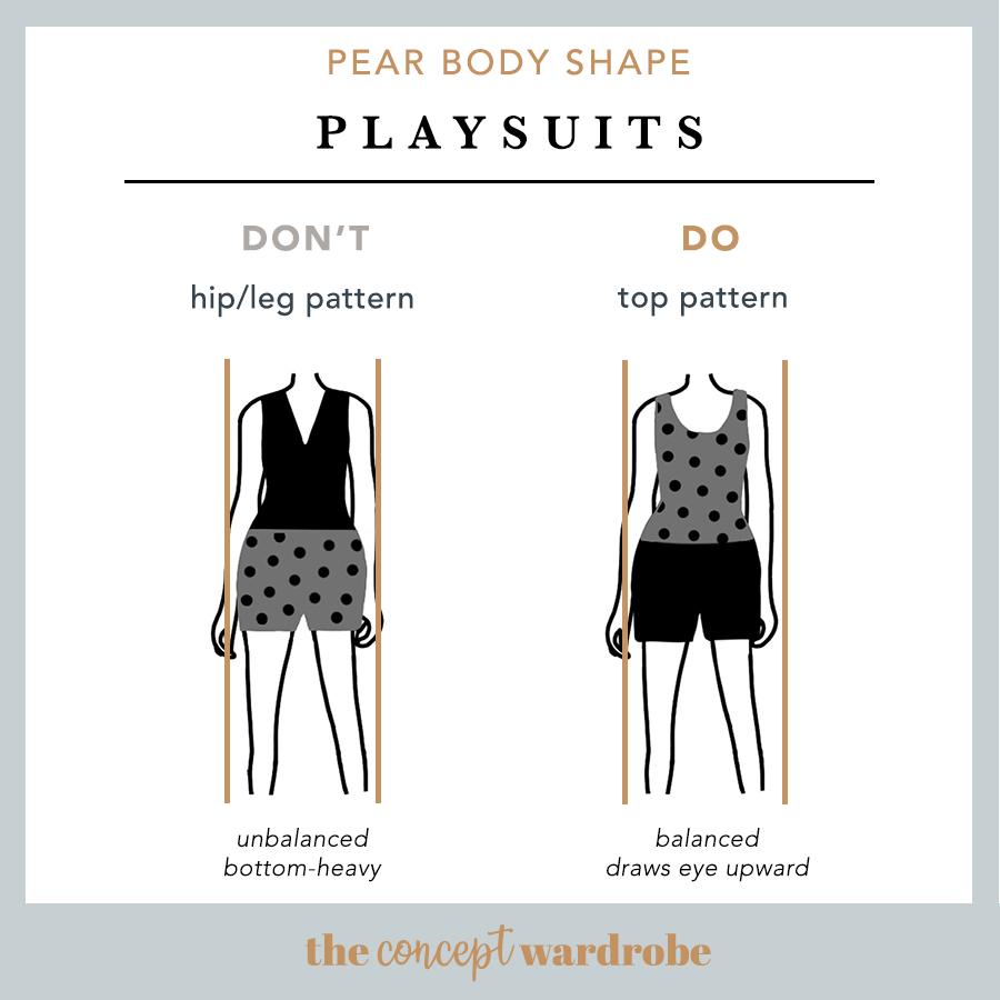 Pear Body Shape - Playsuits Do's & Don'ts