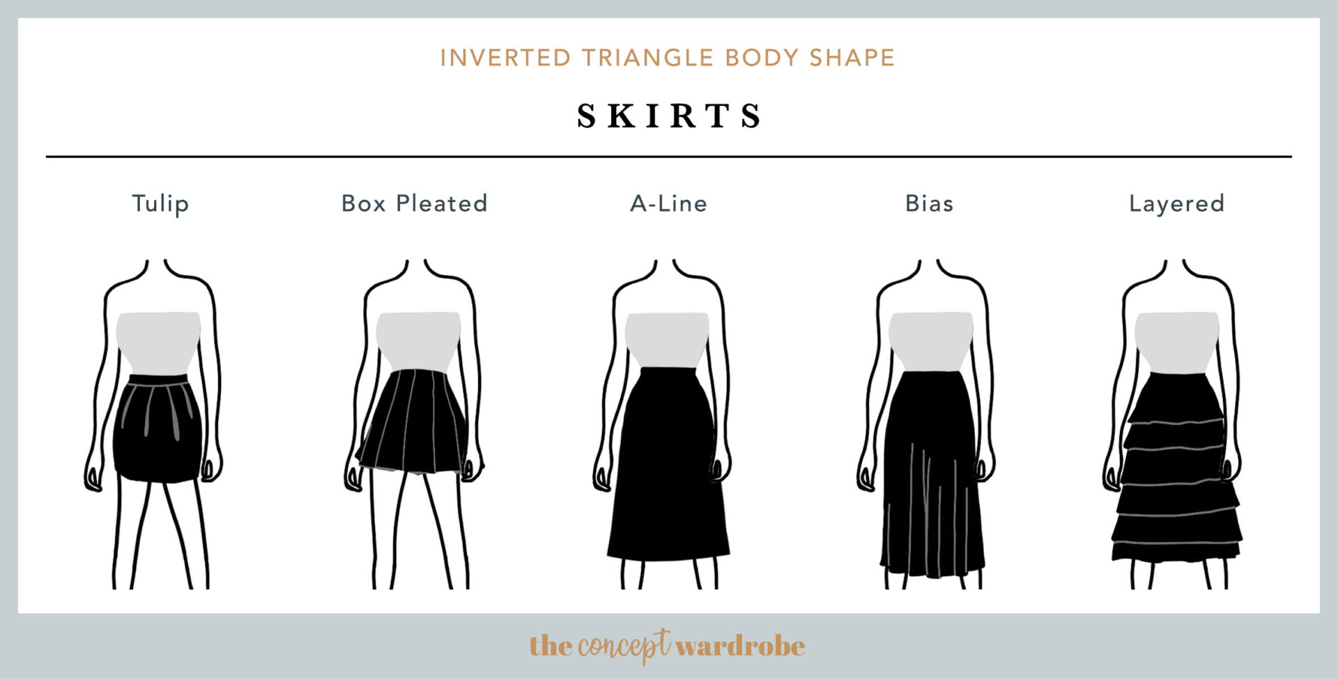 Inverted Triangle Body Shape Skirts - the concept wardrobe