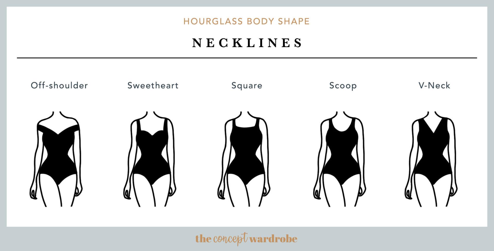 Hourglass Body Shape Necklines - the concept wardrobe