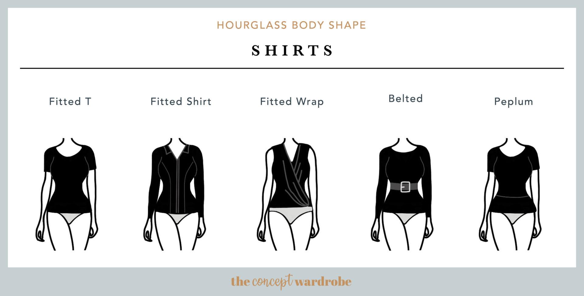 Hourglass Body Shape Shirts - the concept wardrobe