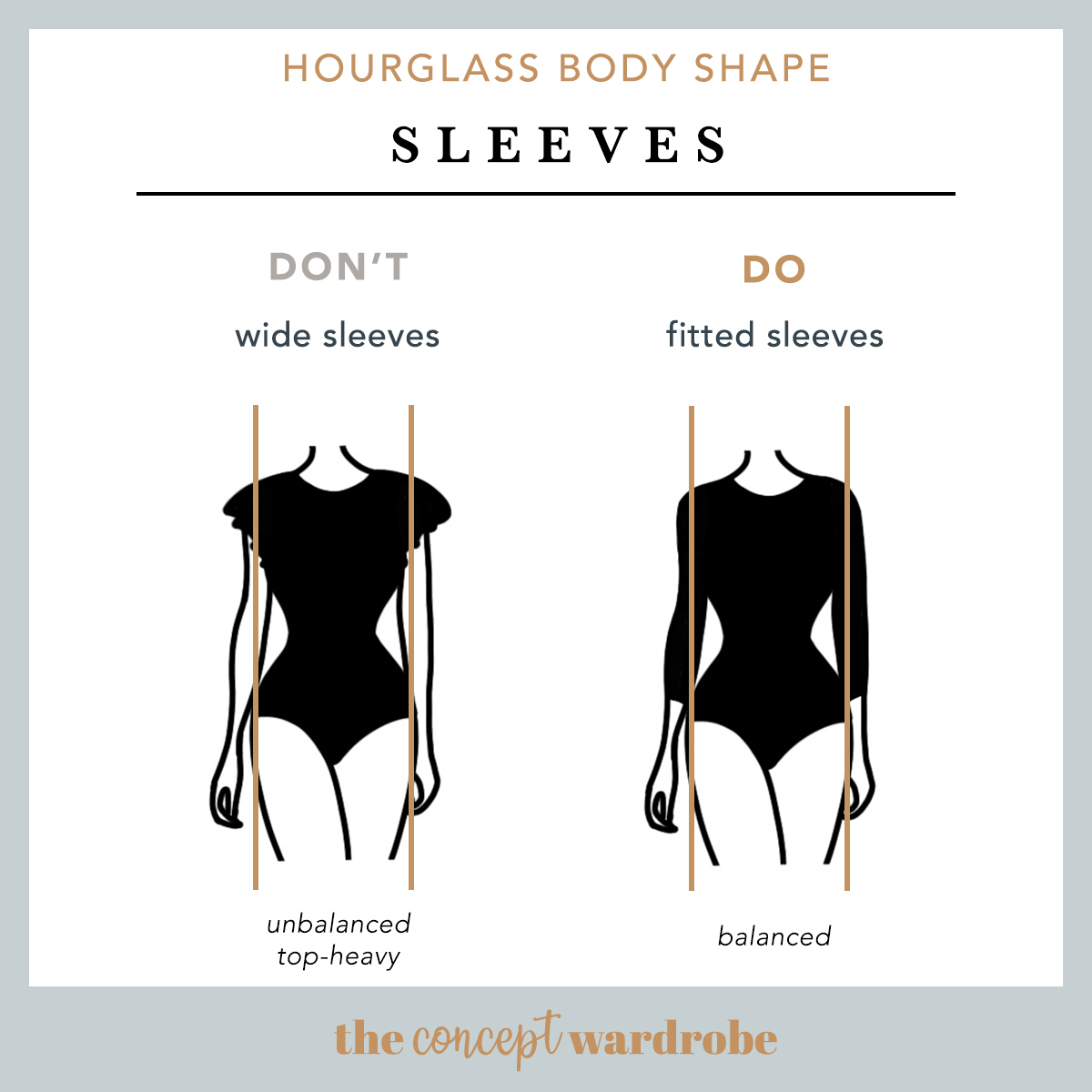 Hourglass Body Shape Sleeves Do's and Don'ts - the concept wardrobe