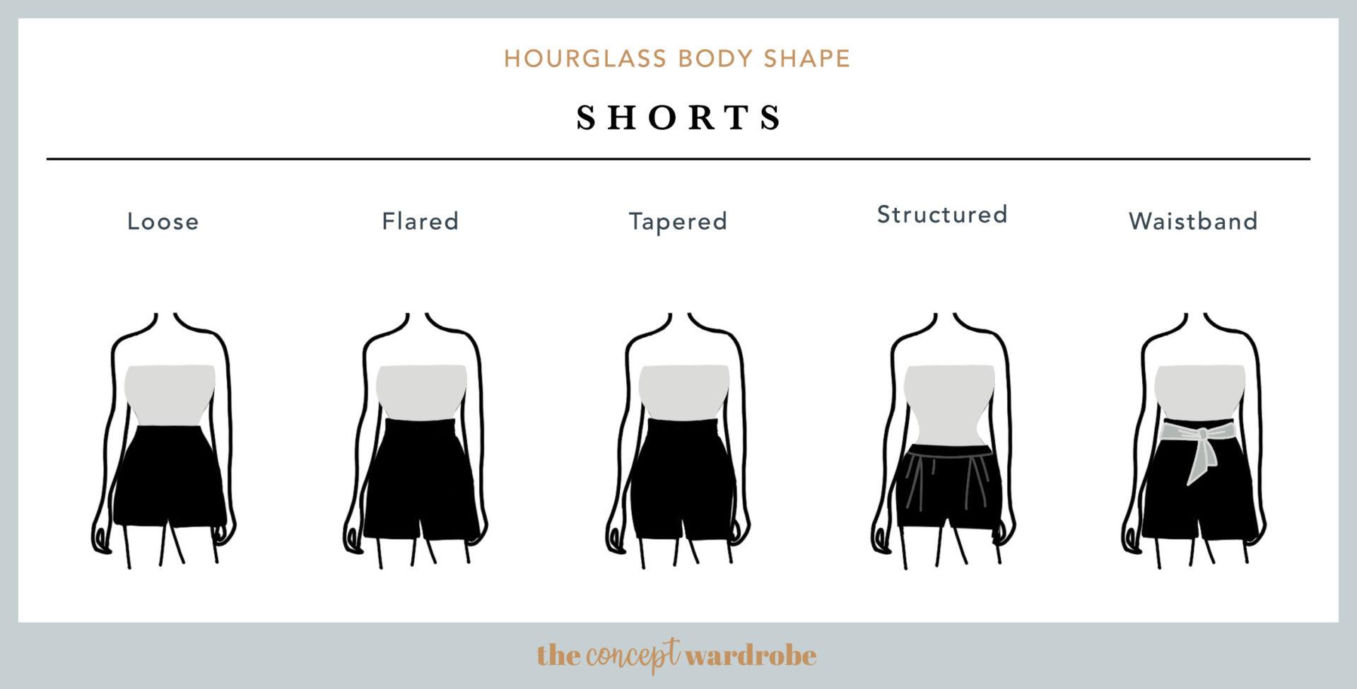 Hourglass Body Shape Shorts - the concept wardrobe