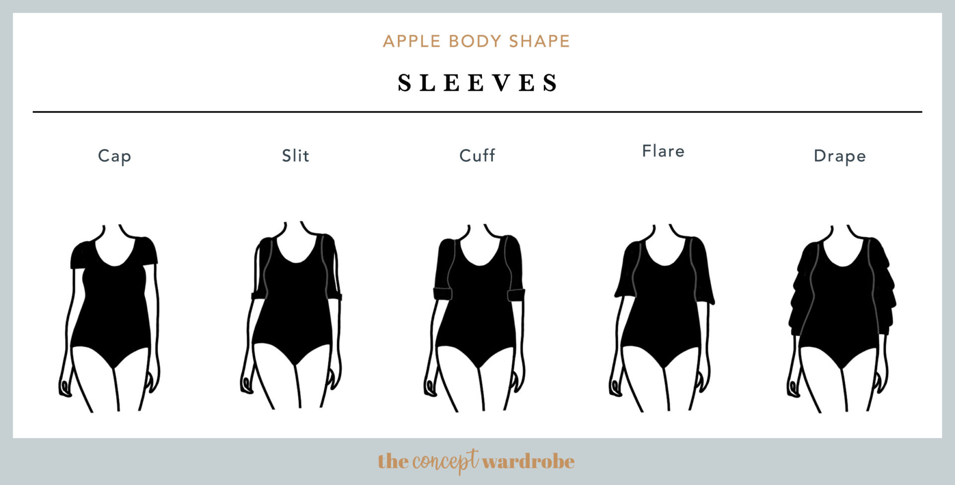 Apple Body Shape Sleeves - the concept wardrobe