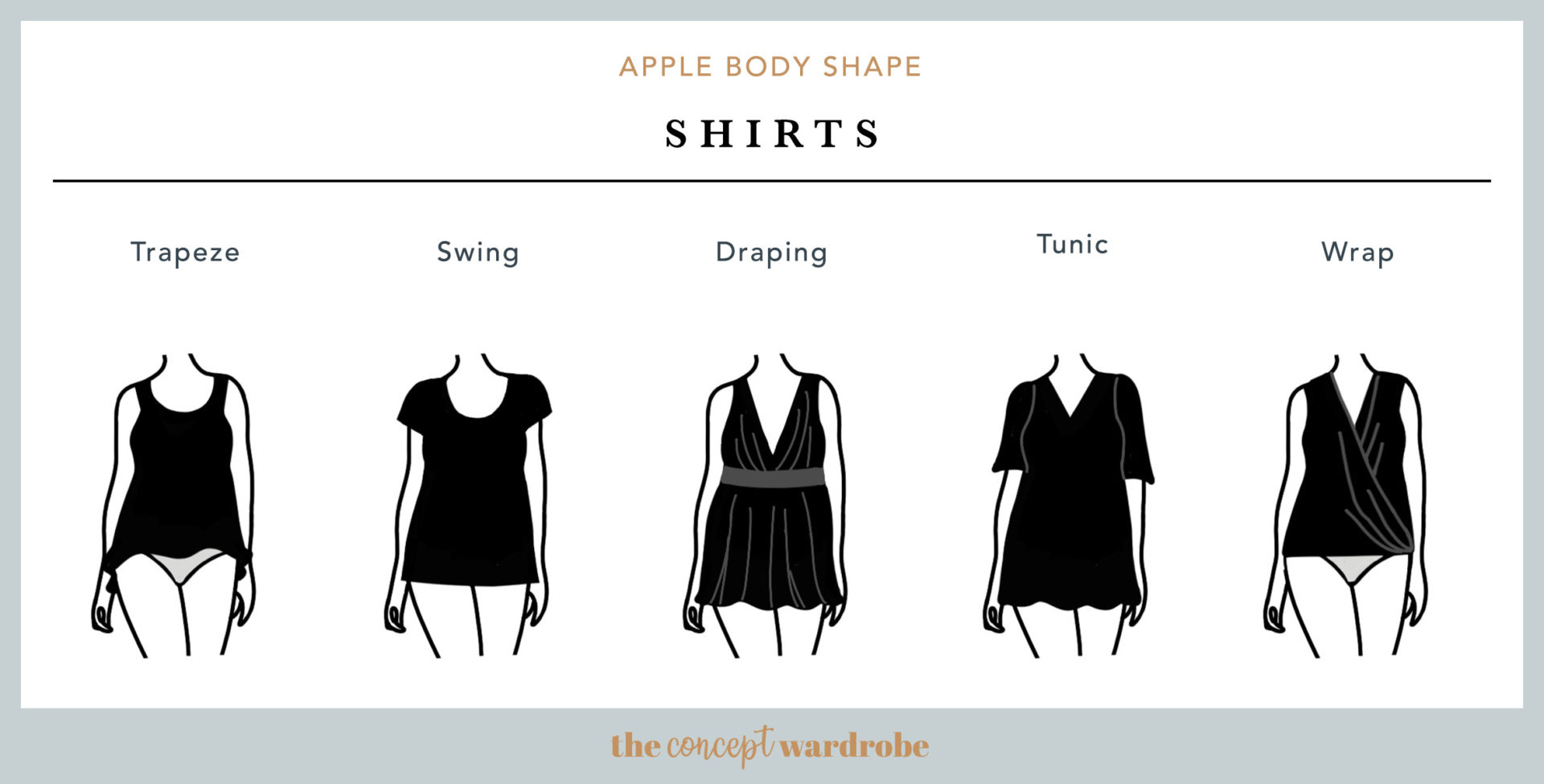 Apple Body Shape Shirts - the concept wardrobe