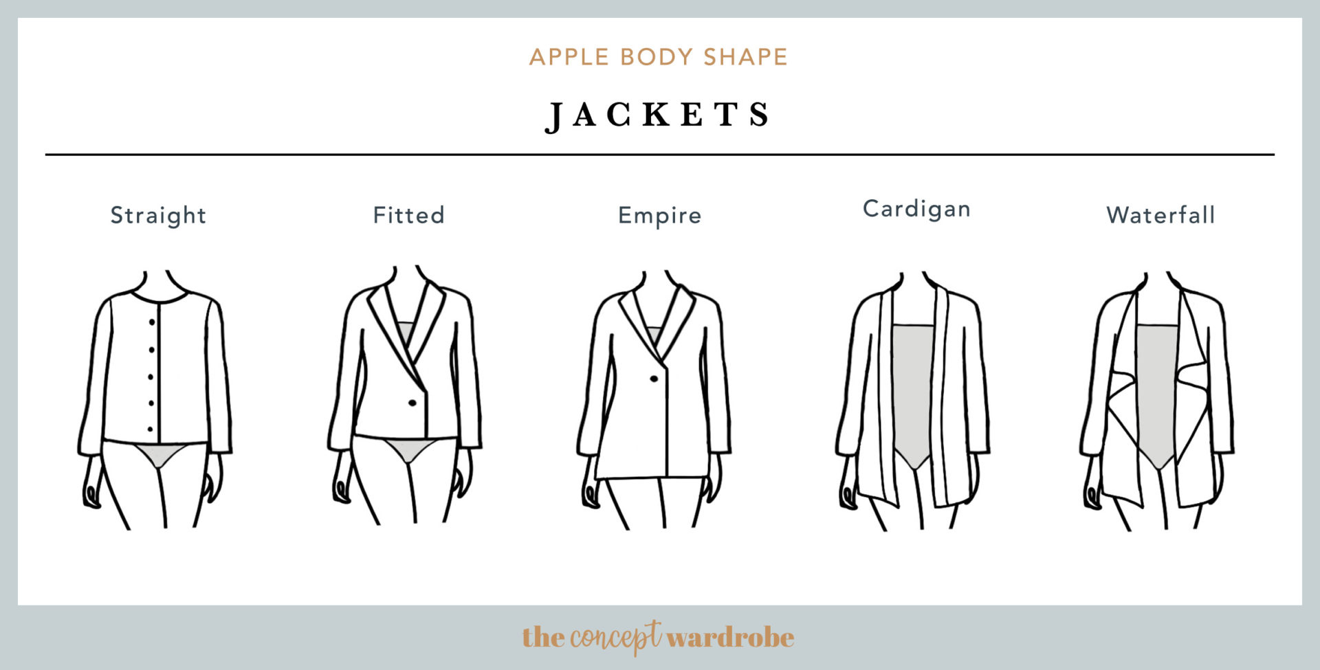 Apple Body Shape Jackets - the concept wardrobe