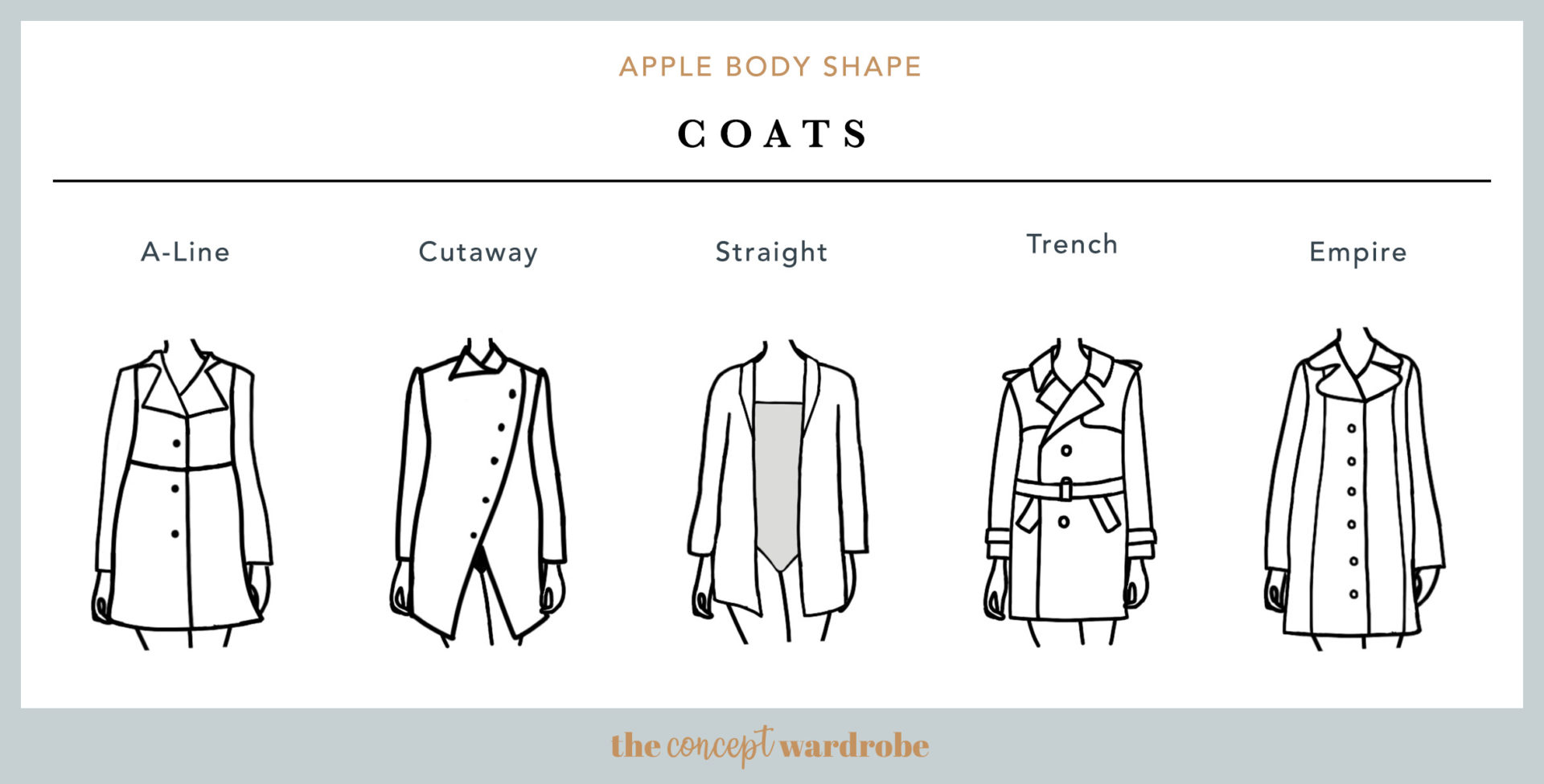 Apple Body Shape Coats - the concept wardrobe