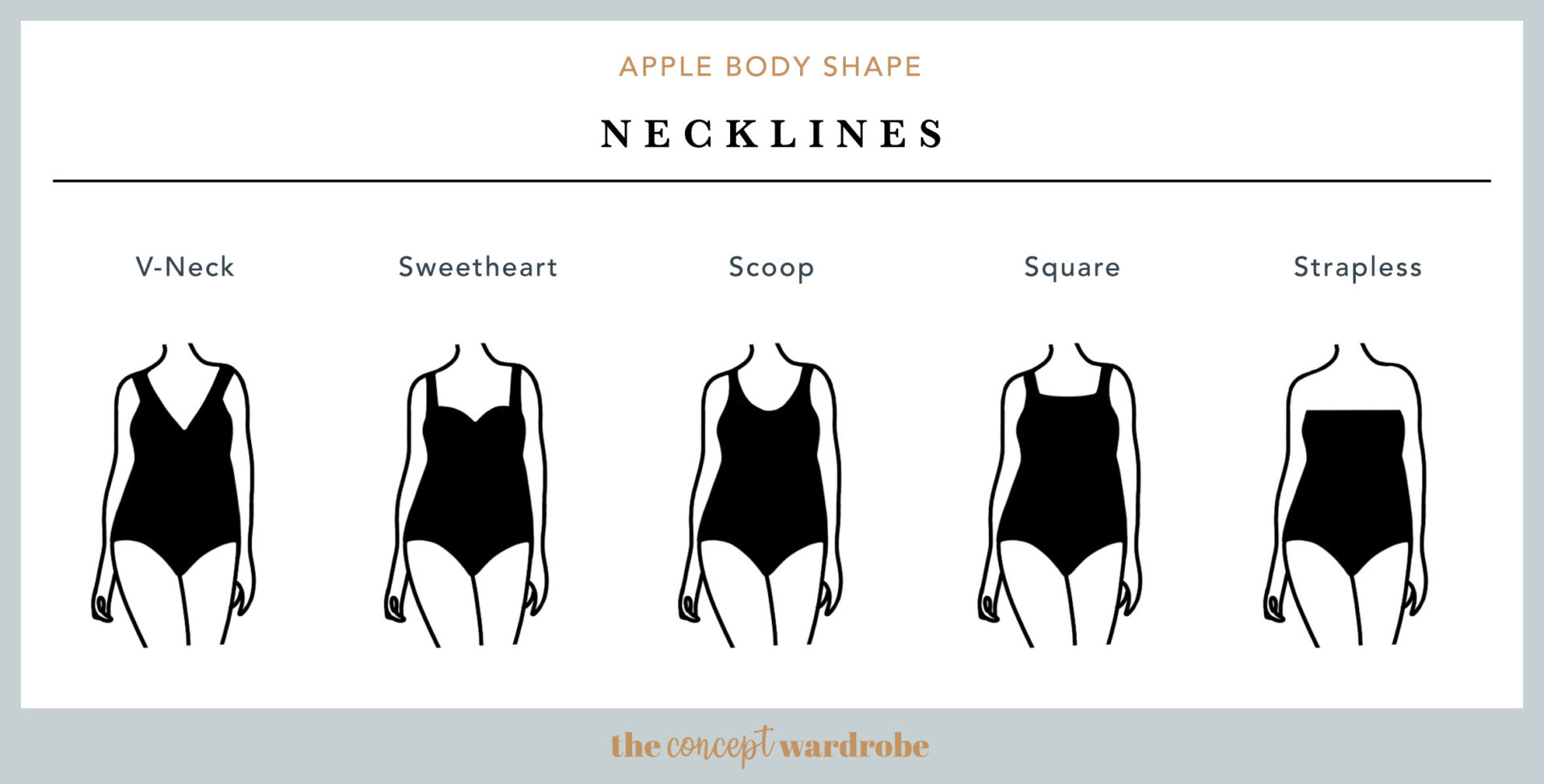 Apple Body Shape Necklines - the concept wardrobe