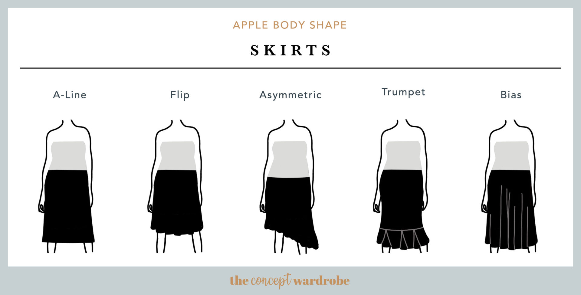 Apple Body Shape Skirts - the concept wardrobe