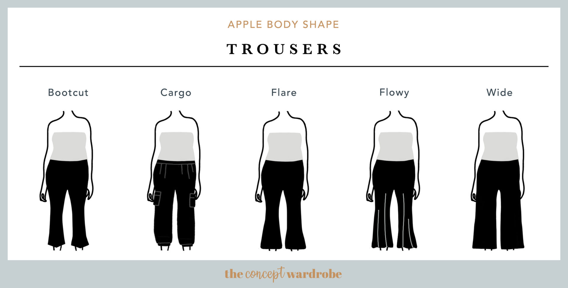 Apple Body Shape Trousers - the concept wardrobe