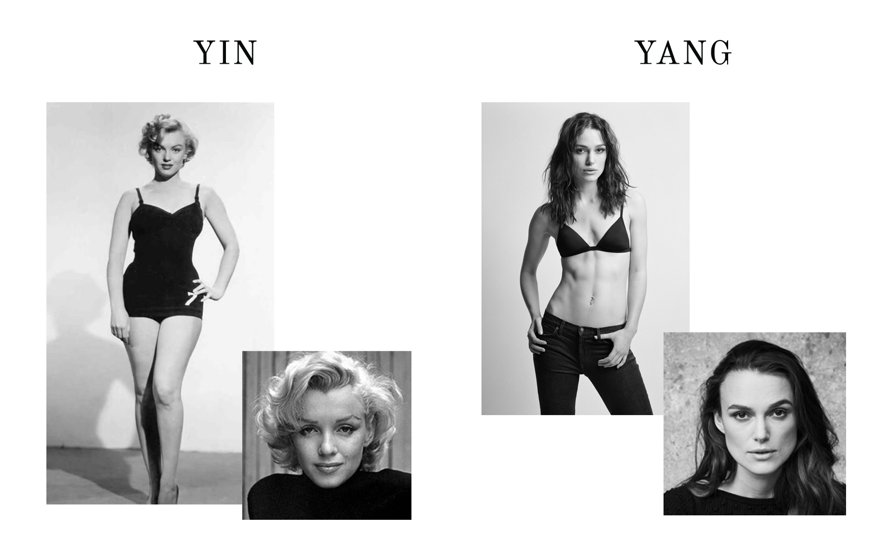 Kibbe Body Types - Yin-Yang Examples - the concept wardrobe