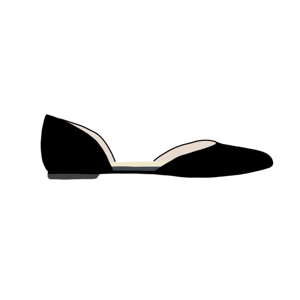 D'Orsay Flats Shoes - the concept wardrobe