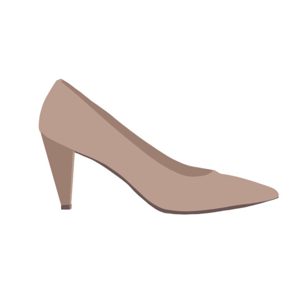 Cone Heels Shoes - the concept wardrobe