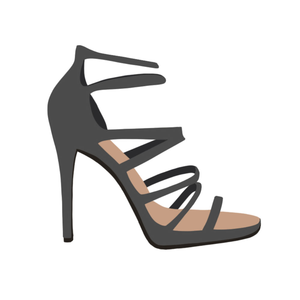 Strappy Heels Shoes - the concept wardrobe