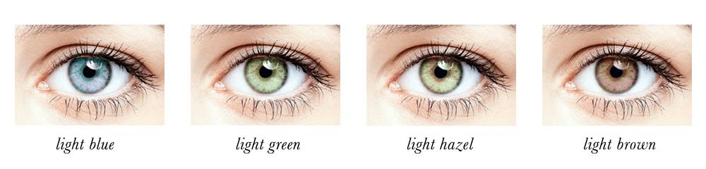 Light Spring Eye Colours