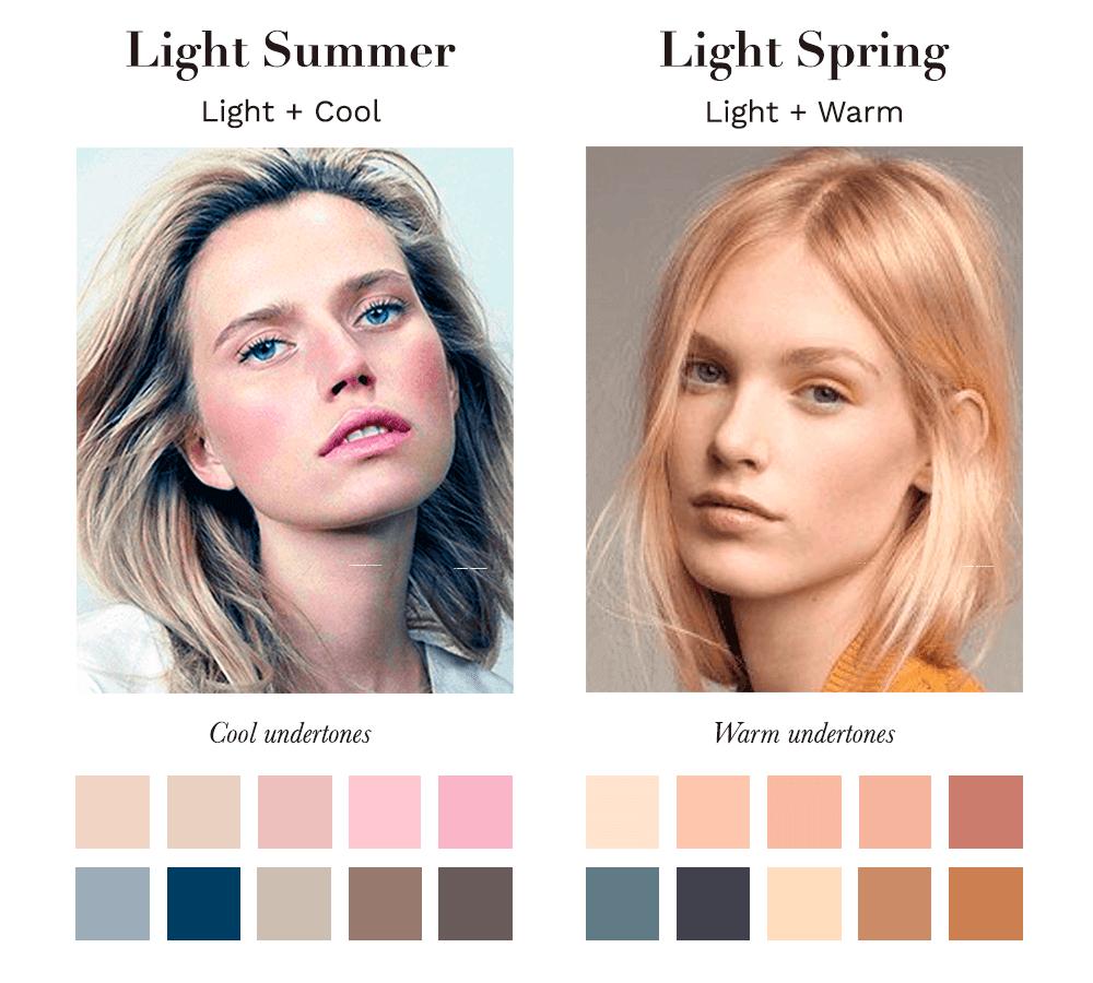 Light Summer vs Light Spring
