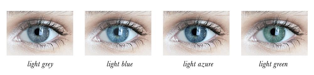 Light Summer Eye Colours