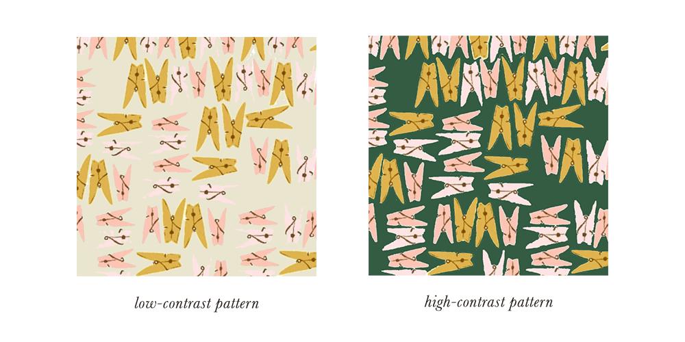 Soft Autumn Patterns & Prints Contrast