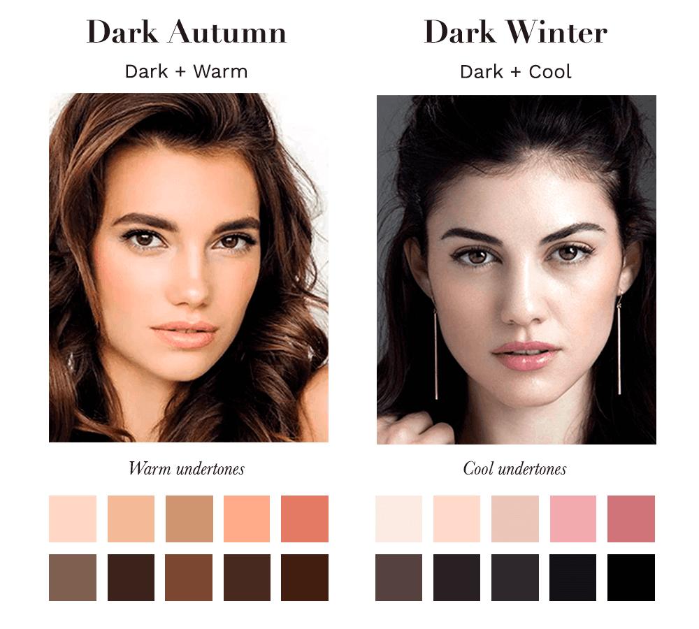 Dark Autumn vs Dark Winter