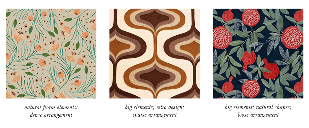 Dark Autumn Patterns & Prints Elements