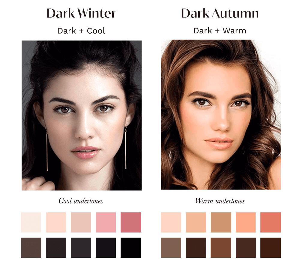 Dark Winter vs Dark Autumn
