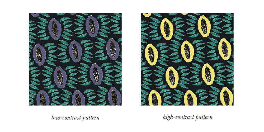 Dark Winter Patterns & Prints Contrast