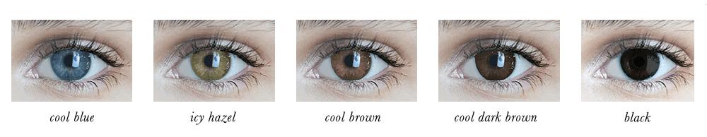True Winter Eye Colours