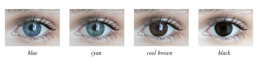 Bright Winter Eye Colours