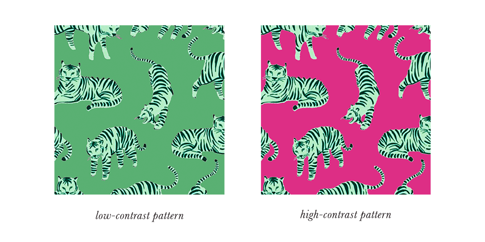Bright Winter Patterns & Prints Contrast