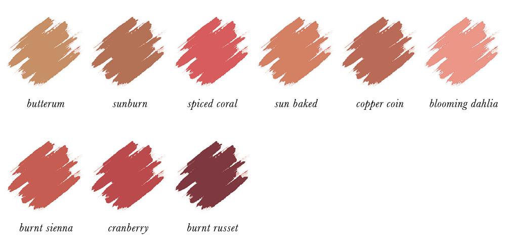 Dark Autumn Make-up - Blushers
