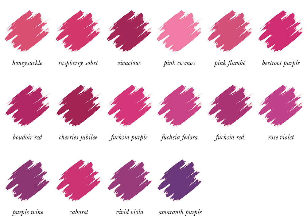 Colour Analysis for People of Colour - Bright Winter Lipstick Colours