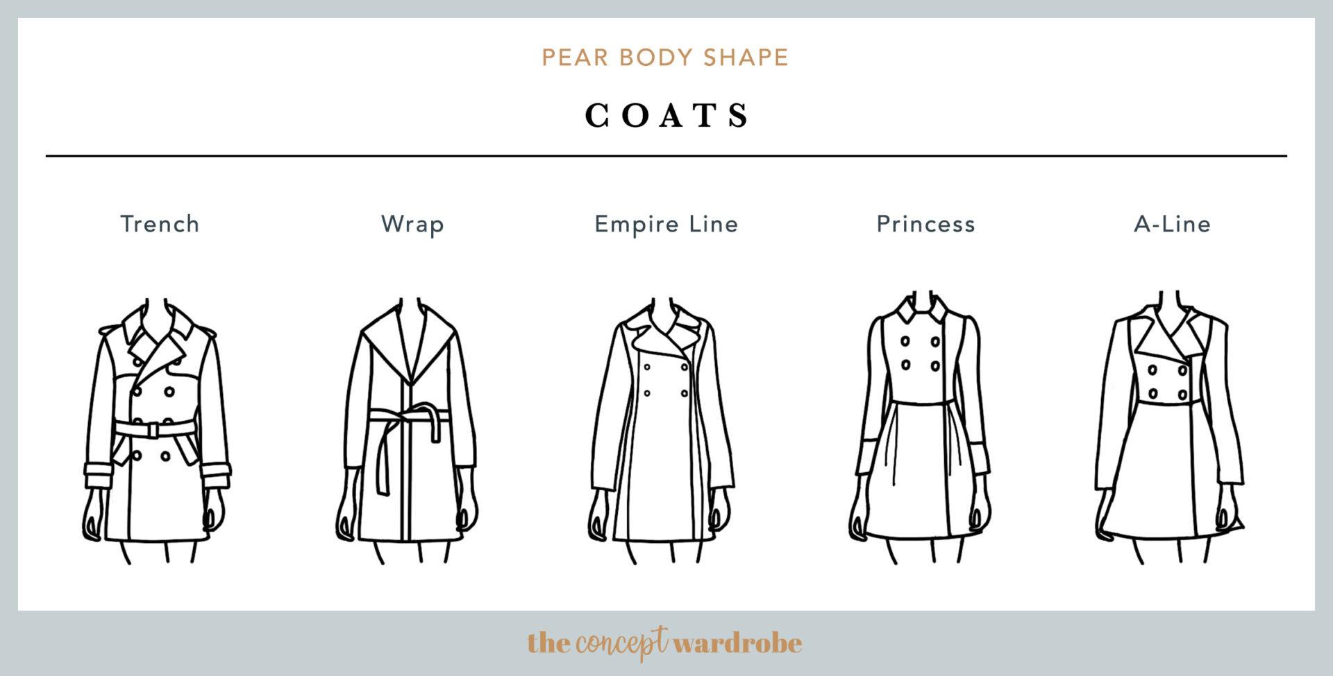 Pear Body Shape Coats - the concept wardrobe