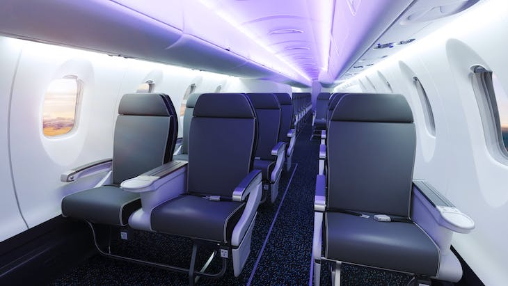 Bombardier CRJ-550 Interior