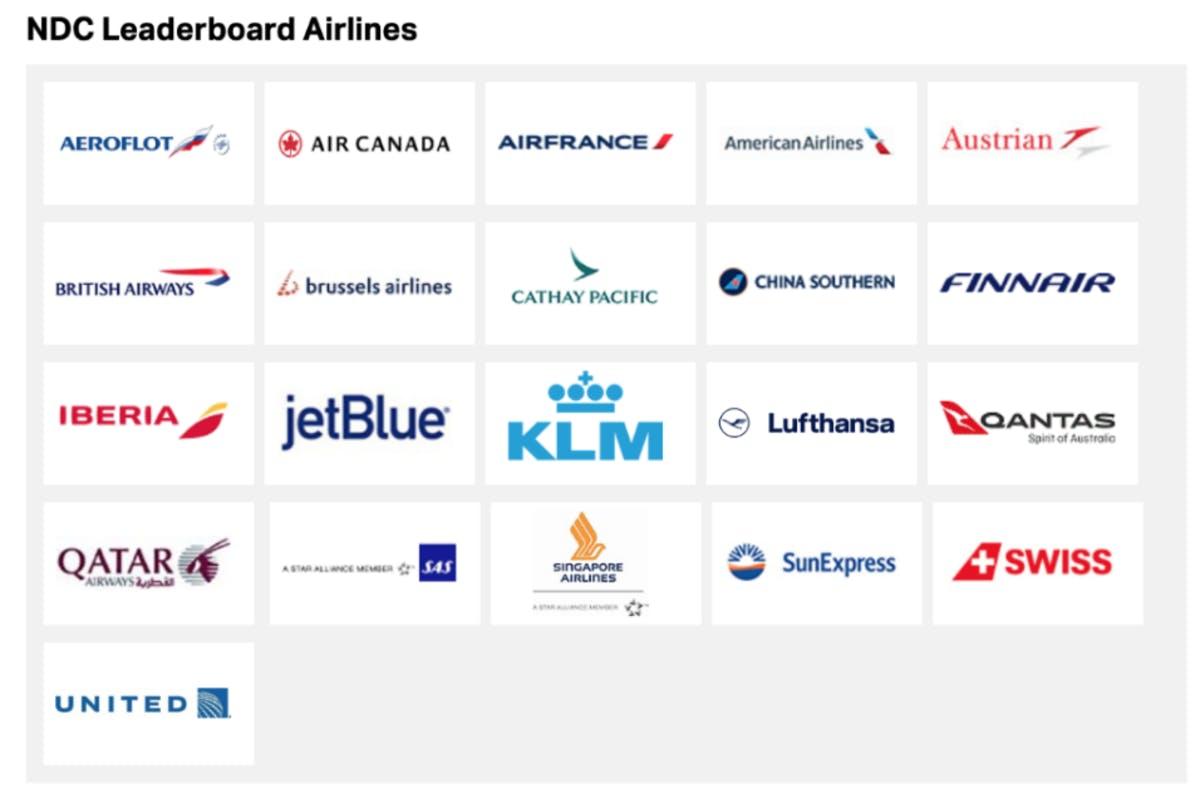 IATA's NDC Leaderboard