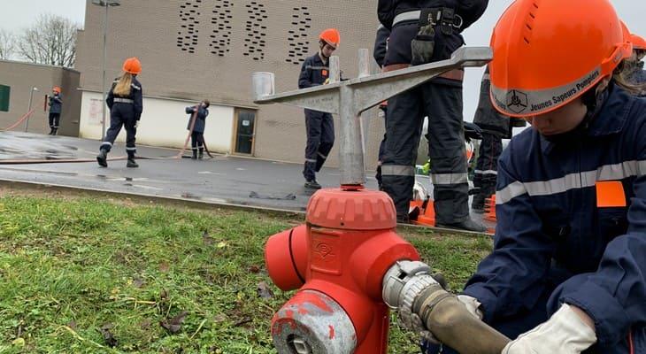 la section des jeunes sapeurs pompiers d'Ancerville recrute dans la Meuse, article de Puissance Télévision