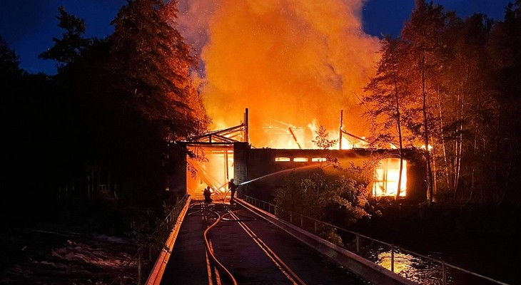 Incendie de la papeterie de L'isle en Rigault