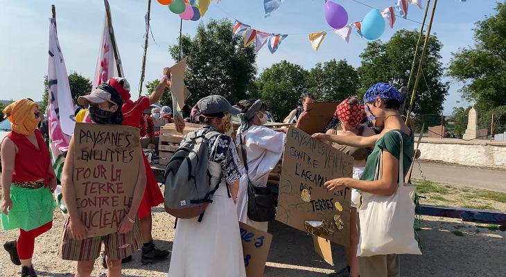 Mobilisation lors du festival Les Rayonnantes 2021