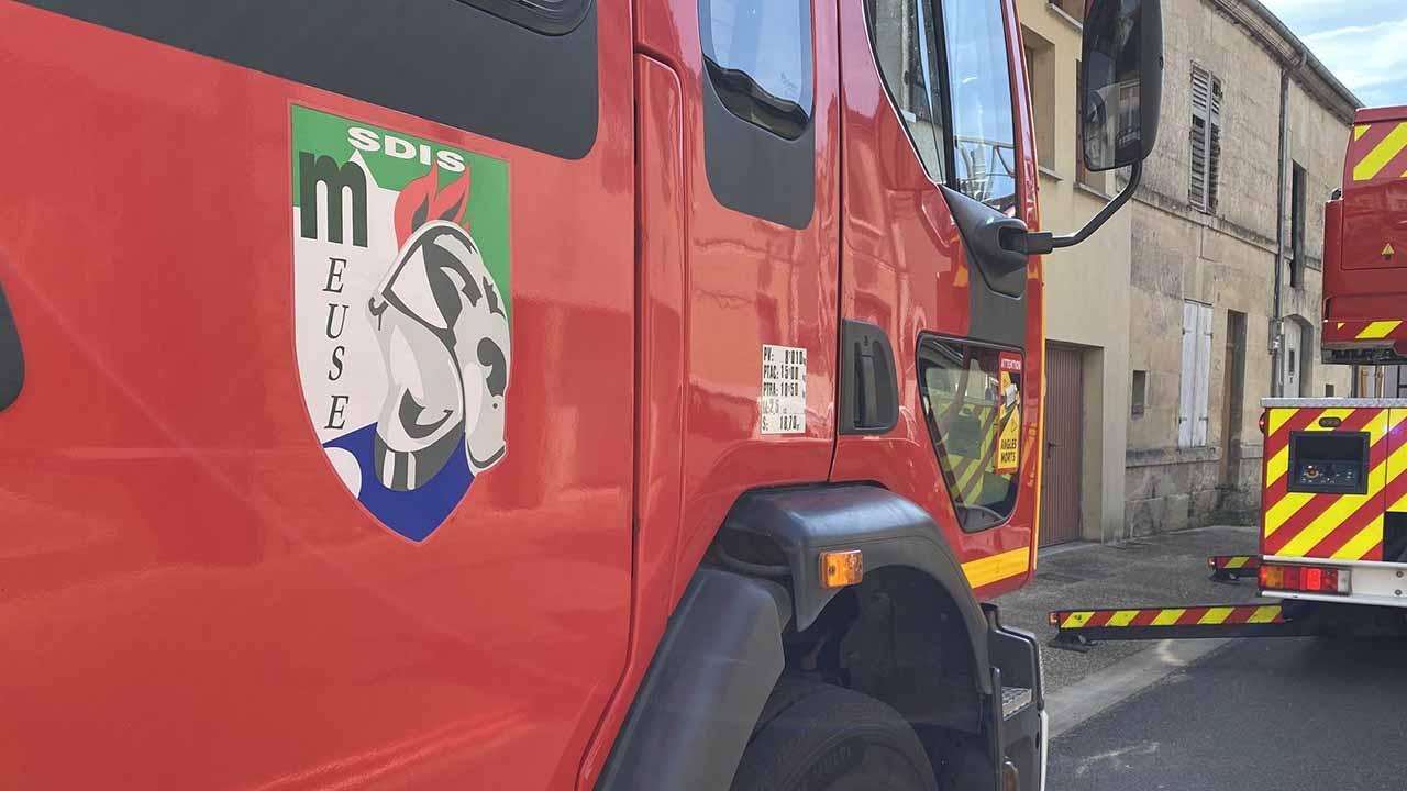 Incendie à Longeville en barrois dans la Meuse, les pompiers sont sur place