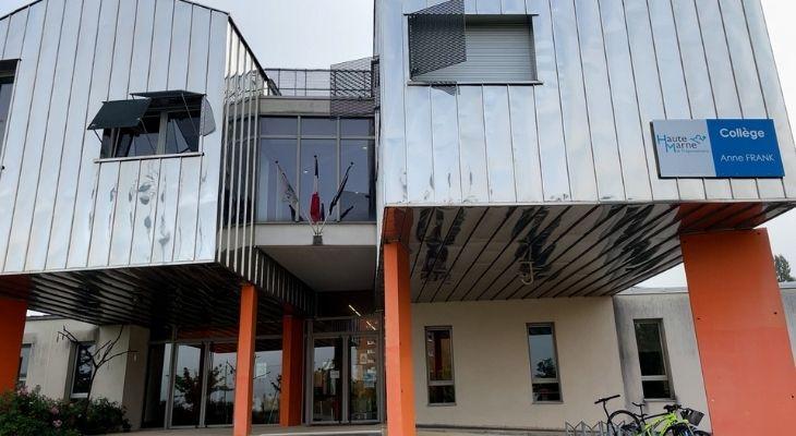 Façade du collège Anne Frank à Saint-Dizier