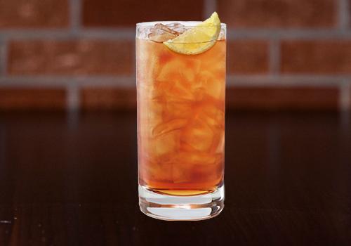 Ice cold unsweented ice tea with lemon