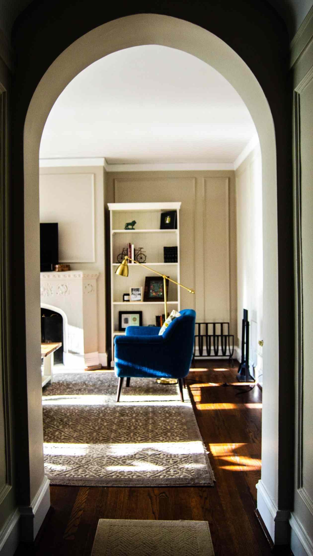 A hallway in a flat