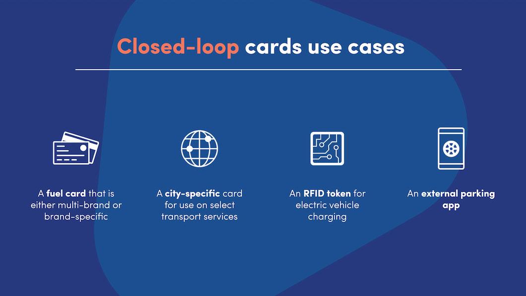Closed loop cards uses cases in maas