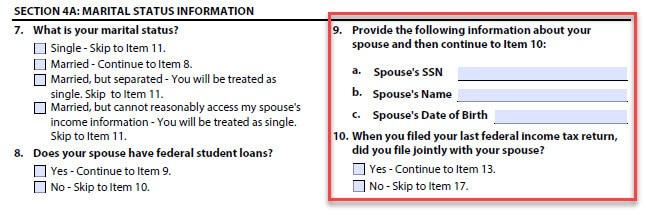 idr form cosign spouse