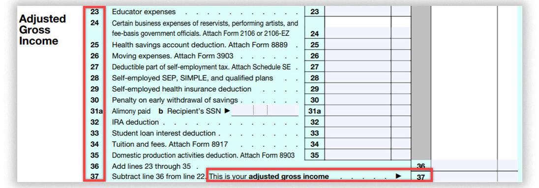 calculate adjusted gross income