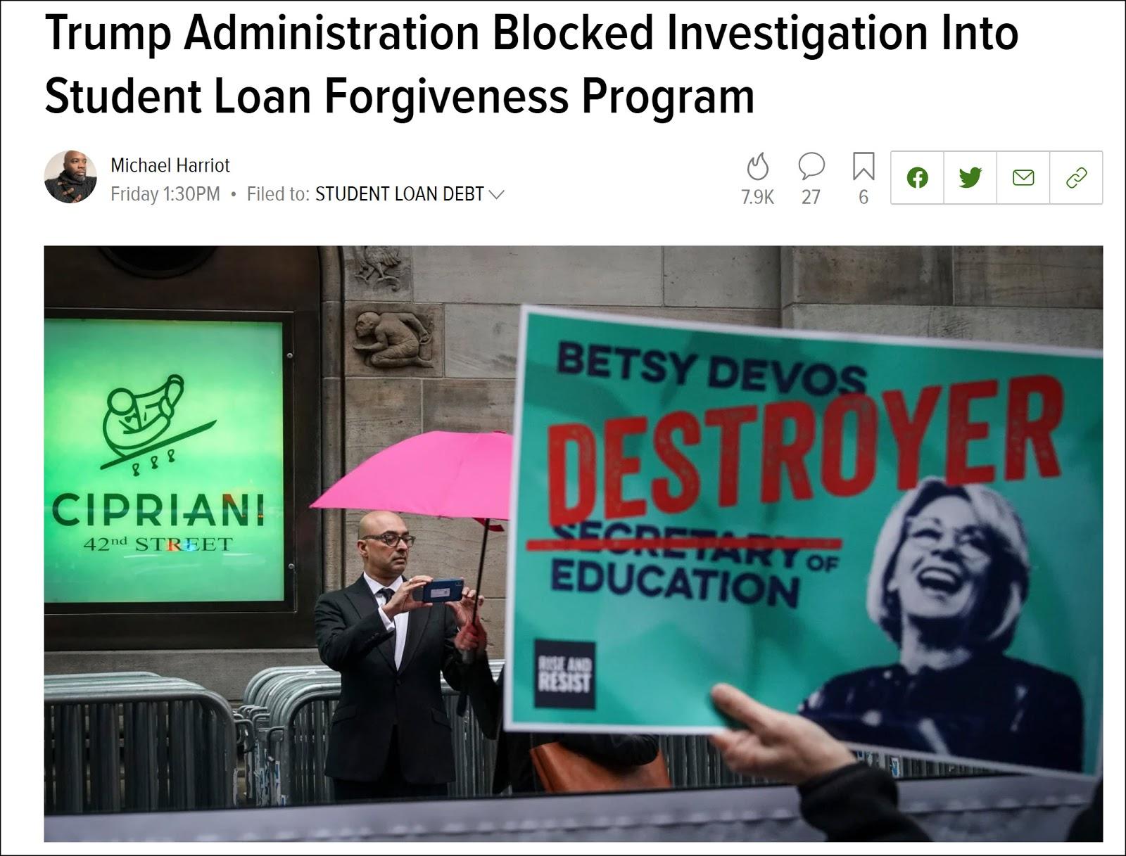 trump blocks forgiveness